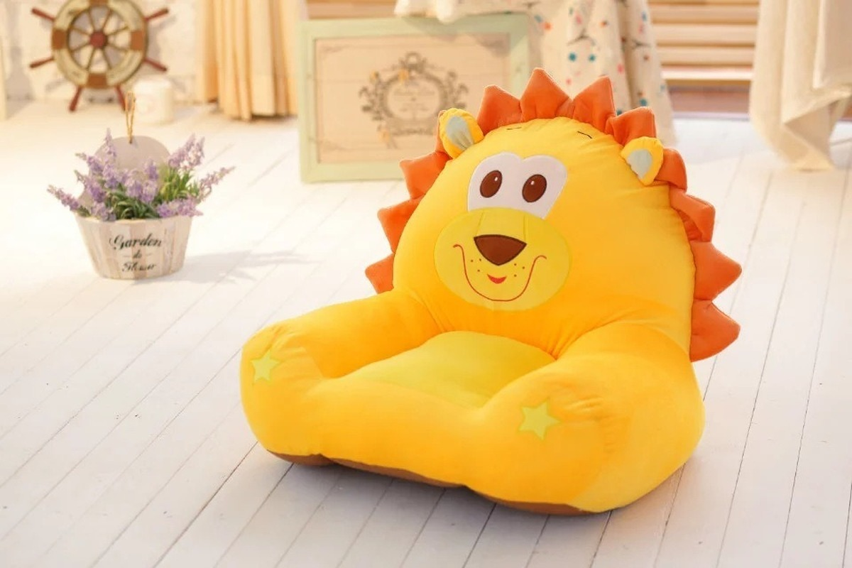 Hot Cartoon Children's Small Sofa Plush Toy Tatami Lazy Chair Back Baby Stool 0-6 Years Old Baby Seat Sofa