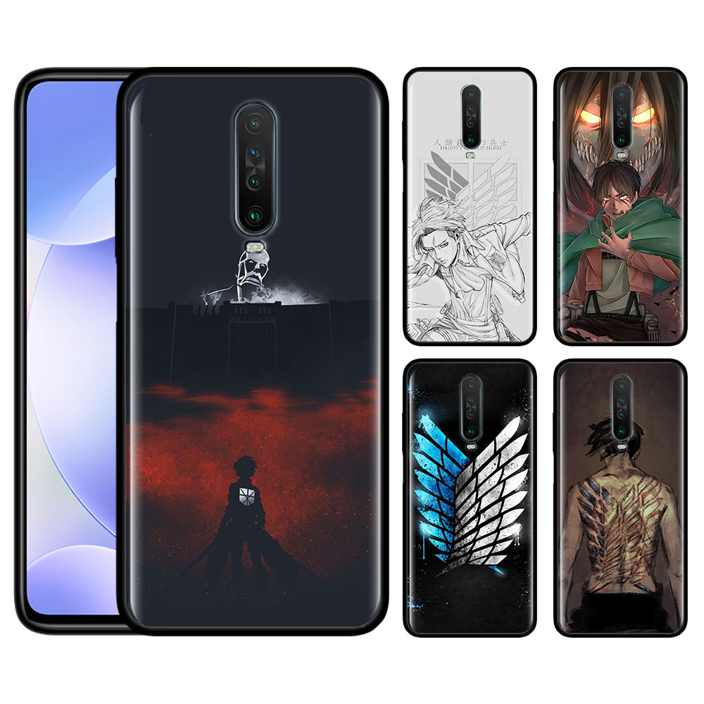 Case For Redmi Note 9 Pro 9S 9 9A 9C Note 8 8T 7 K20 K30 Pro 8 8A 7 7A 6A Soft Phone Shockproof Shell Anime Japanese Attack On