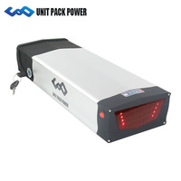 UPP 52V Rear Rack Battery 14.5Ah with Samsung Cells for 1000w 750w 500w front/mid/hub motor