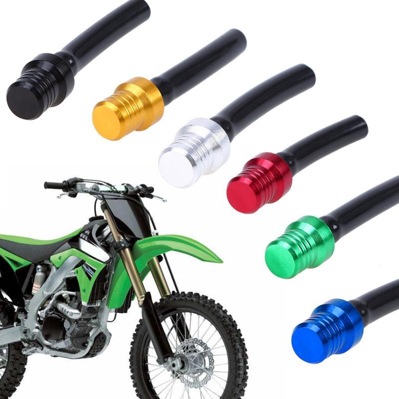 Yeni alüminyum gaz yakıt deposu kapağı havalandırma vana havalandırma tüp çukur kir motorsiklet motosiklet aksesuarları yedek parça vana havalandırma