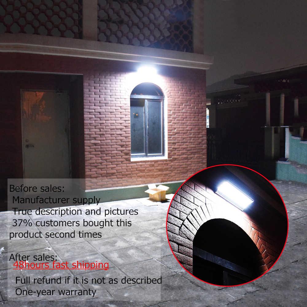 LED lampa słoneczna radarowy czujnik ruchu ogrodowa 24/48/60 lampy solarne LED lampa słoneczna s zasilana ścienna lampa aluminiowa lampa słoneczna wodoodporna