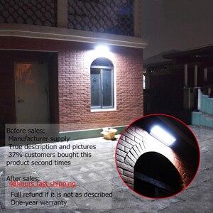 Image 5 - Lampada solare a LED per esterni a luce solare con sensore di movimento alluminio 24/48/60LED illuminazione da parete per giardino a luce solare impermeabile