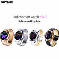OUTMIX-reloj inteligente IP68 para mujer, pulsera bonita resistente al agua, con control del ritmo cardíaco y del sueño, Android e IOS