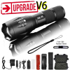 Z45 Led Flashlight Ultra Bright Waterproof MINI Torch T6/L2/V6 zoomable 5 Modes 18650 rechargeable Battery for camping tactical 1