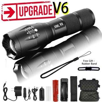 Linterna Led Z45 Ultra brillante impermeable MINI antorcha T6/L2/V6 zoomable 5 modos 18650 batería recargable para camping táctico