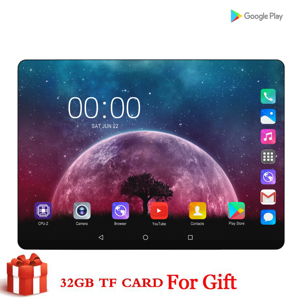 CARBAYTA CP9 64GB ( 32GB +32GB Card ) Bluetooth Wifi Phablet Android 7.0 10.1 Inch Tablet Dual SIM Card 2.5D Tablet 9 10 CE Band