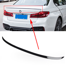 Car Rear Trunk Spoiler Lip Trim For BMW 5 Series G30 Sedan 2017 2018 2019 Glossy Black ABS M5 Styling Auto Accessories