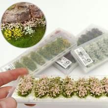Estructura de flores Artificail de una hoja, Base de hierba estática, paisaje, juego de guerra, PJ08
