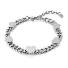 New Popular Steel Bracelet Bangles Romatic Love Couple Girlfriend Gift Female High Quality Stainless Steel Bracelet for Woman