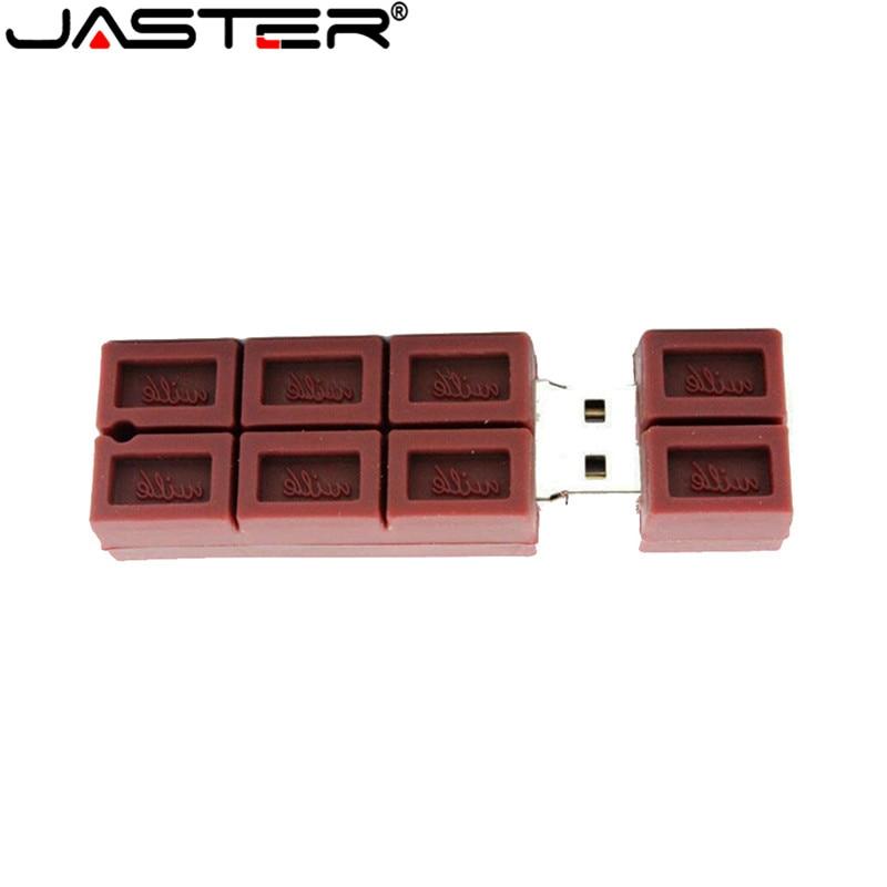 JASTER USB Drive Mini Chocolate Memory Stick USB Pen Drive 128GB 8GB 16GB 32GB 64GB Pendrive USB 2.0 Wedding Gifts Warm Memory