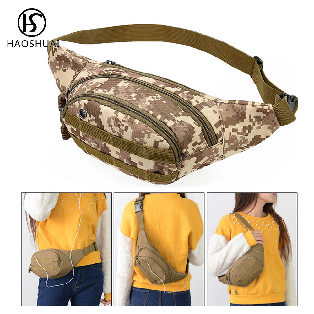 Unisex Waist Pack Bag Canvas Fanny Camouflage Chest Shoulder Small Tactical New