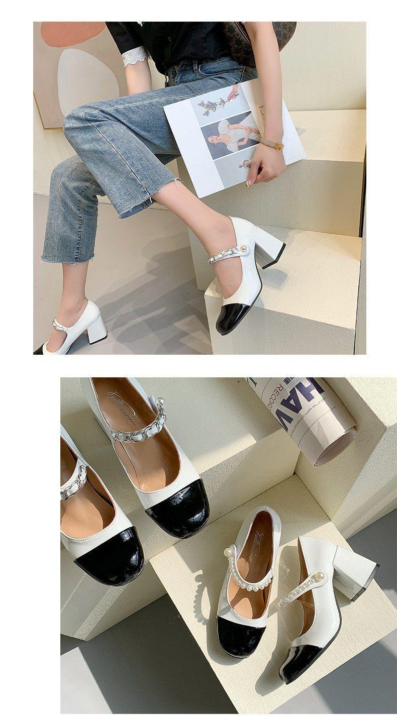 corrente bombas retro chunky calcanhar altura crescente jk sandálias para mulher