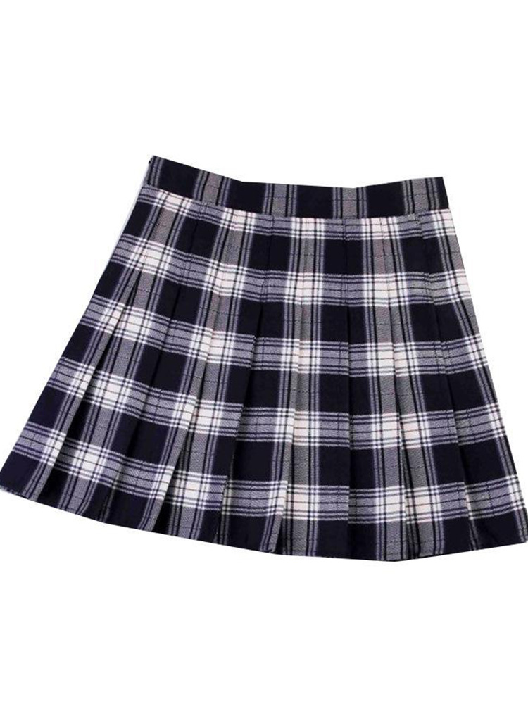 Women Pleated gothic grunge Skirt High Waist Female Plaid Mini Skirts Preppy Style Ladies Girls Dance Fashion Chic Woman Skirts