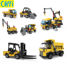 CAYI Building Blocks City Dream Engineering Sets Technic Truck Compatible Constructor Bricks Toy Kits Gift
