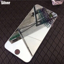 Colorful Mirror effect Tempered Glass  for iPhone 6 6S 7 8 Plus Screen Protector for iPhone X XR XS Max 5S 5C SE Protective Film