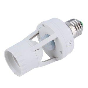 Инфракрасный датчик движения, инфракрасный датчик движения, переменный ток 110-220 В, 360 градусов, Цоколь E27, светодиодная лампа, держатель ламп...
