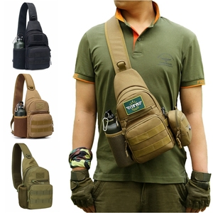 Tactical Army Shoulder Bag Men Sling Crossbody Molle Bags Multicam Camouflage Camping Travel Hiking Hunting Military Backpack