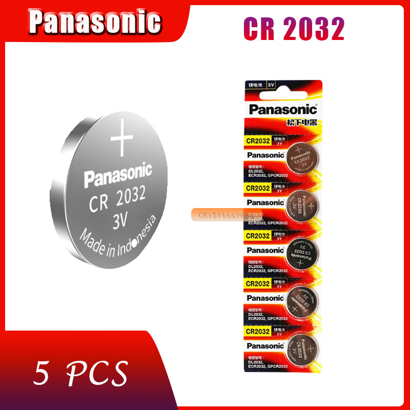 5 шт., оригинальный совершенно новый аккумулятор для PANASONIC cr2032 3 в, Кнопочная батарейка, батарейки для часов, компьютера cr 2032