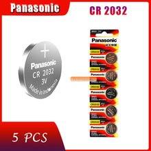 5 pçs original marca nova bateria para panasonic cr2032 3v botão pilha baterias de moeda para relógio computador cr 2032