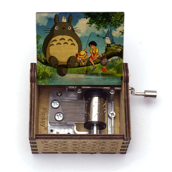 30 Patterns Wooden Totoro Print Music Box Music Theme Tonari No Totoro Hand- Musical Box Kids Girl Gift Birthday Gift dragon ball music box hand crank musical box carved wood musical gifts play dragon ball z tapion theme