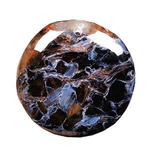 Ожерелье, кулон, натуральный красный синий, ювелирное изделие для женщин, мужчин, женщин, мужчин, 26x9 мм, круглые бусины, мощная энергия, камен...