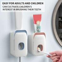 Dispensador automático de pasta de dientes 2020, soporte de pared para cepillo de dientes dentífrico para perezosos, exprimidor para inodoro, accesorios de baño para el hogar