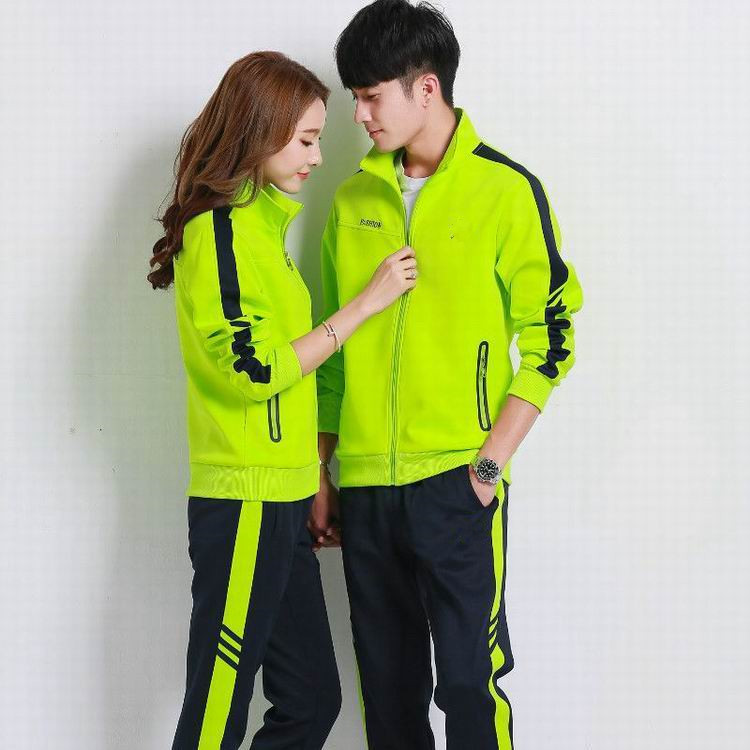 Long Sleeve Sports Set Spring And Autumn New Style Couples Leisure Suit Large Size Stand Collar Hoodie Women's Running Sports Cl
