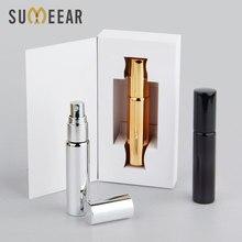 50 pçs/lote 10ml vazio frasco de perfume caixa pacote branco ou preto caixa spray garrafa presente perfume atomizador