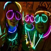 100 Glow Glasses Glow Stick Bright Neon Glasses Parties