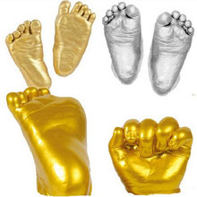 Baby Handprint Footprint Kit 3D Plaster Casting Keepsake Safe And Non-toxic, 75 Seconds Model Fixed