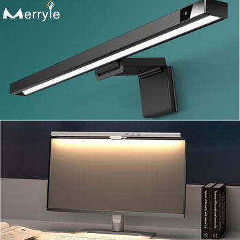 Computer Monitor Screen Hanging Light 450mm 3Colors Led Smart Reading Desk Table Lamp for Office Study Reading Eye Protection 1