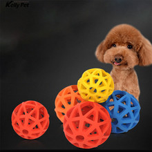 Pet Toys Geometric Hollow Ball Dog Natural Rubber Toy Chew For Small Medium Large Dogs Squeak