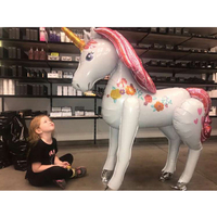 balloons 1pc 3d large 116cm unicorn babyshower boy happy birthday party ation kids inflatable foil ballons kids toy