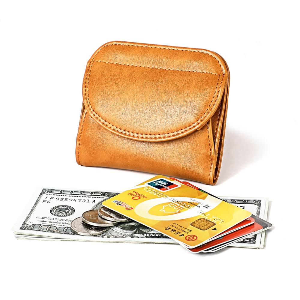 Women's Wallet Genuine Leather Female Small Card Holder Short Purses With Coin Proket For Girls Money Bag Cartera Mini Wallet