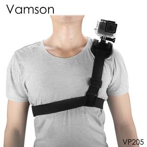 Image 5 - Vamson ل GoPro اكسسوارات الكتف مربط صدر ترايبود حزام جبل ل GoPro hero 7 6 5 4 3 + 2Xiaomi ل يي ل SJCAM VP205