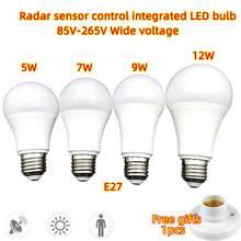 Radar Motion Sensor Light Bulb E27 LED Lamp Auto Smart Infrared Body Induction Bulb Energy Saving For Garden Hallway Corridor