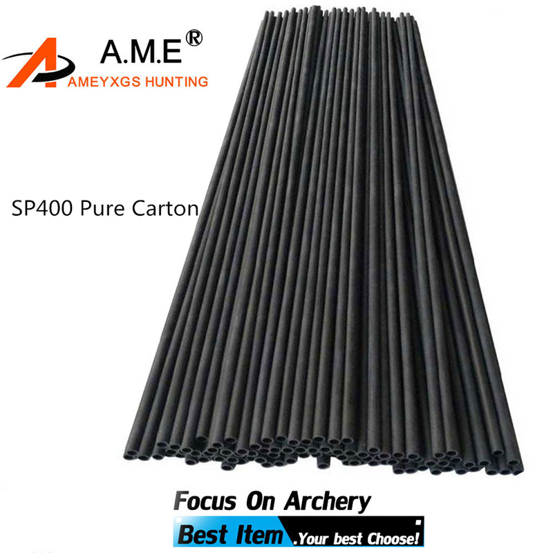 12 Pcs 30 Inch Archery Spine 400 Pure Carbon Arrow Shaft  DIY Arrow Tubes Outdoor Hunting Shooting Accessories