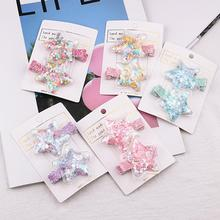 New Korean kids Transparent Candy Design Love Stars Hair Clips Sweet Girl Cute Hairpins Hairgrips Headwear Accessories