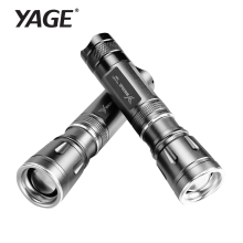 YAGE 318C CREE  Zoomable Mini Led Flashlight Waterproof  Self Defense lanterna Led Rechargable Torch  for 1*18650 Battery 11.5cm