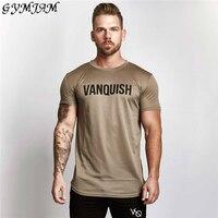 Легкая мужская одежда для фитнеса, брендовая мужская футболка для бега, быстросохнущая дышащая модная повседневная мужская футболка с коро...