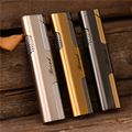 Portable Metal Cigar Lighter Windproof Refillable Butane Gas Jet Torch lighters Smoking Accessories Men's and Women's Gifts