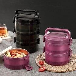 Przenośne ze stali nierdzewnej 304 termiczne pudełko na lunch o dużej pojemności wielowarstwowe termos pojemnik bento BPA bezpłatny pojemnik na jedzenie w Pudełka śniadaniowe od Dom i ogród na