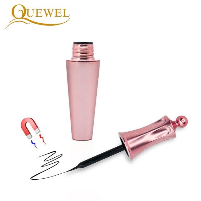 Quewel Magnetic Eyelashes Eyeliner Set 25mm False Eyelash & Magnetic Eyeliner & Tweezers 4 Pairs/Box Convenient Long Makeup Kit 1