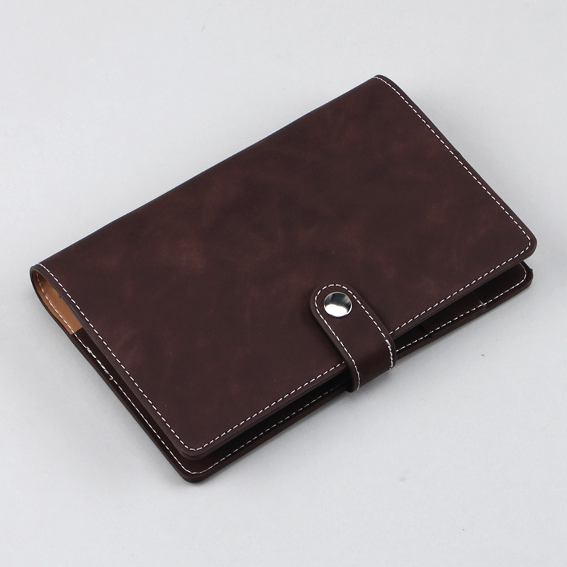 Traveler Notebook Spiral Hand-made Journal Leather Soft Cover Art Journal A6 Refillable Four Inner Booklets Inside Pockets