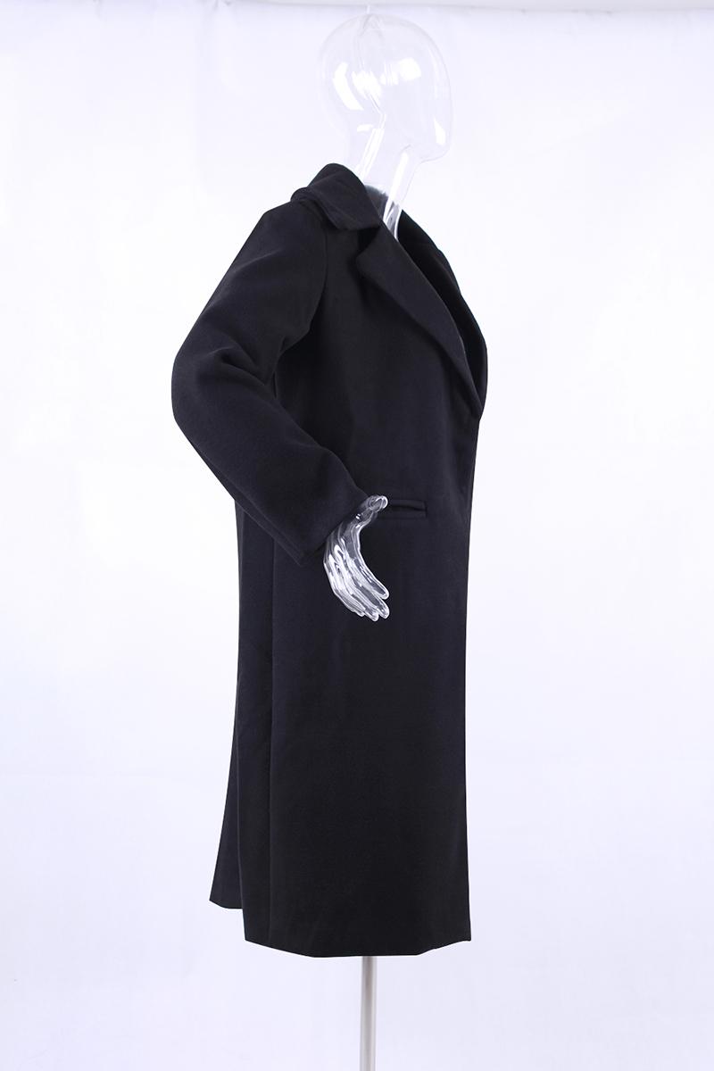 1PC Spring Autumn Women's Wool Coat New Fashion Long Woolen Coat Single Breasted Slim Type Female Autumn Winter Wool Coats 14
