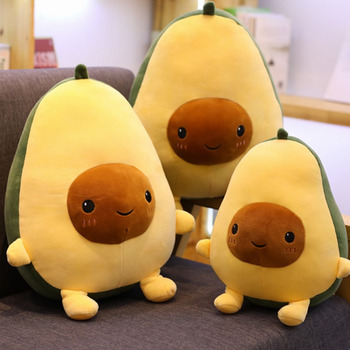 цена 30CM Cute Avocado Stuffed Plush Toy Soft Baby Doll Cartoon Fruit Pillow Sofa Cushion Boys Kids Girls Kid Christmas Birthday Gift онлайн в 2017 году