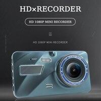 Vehemo Versteckte Stil Auto Dash Cam Doppel Aufnahme Vor und Nach 4,0 Zoll Fahren Recorder Touchscreen Dash Cam Dual kamera