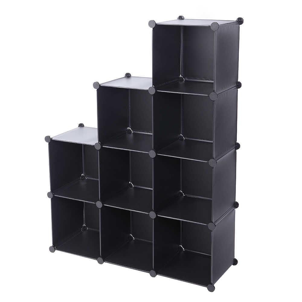 6 Grids Shelf Storage Cabinet Buckle Connectors Lock Cube Diy