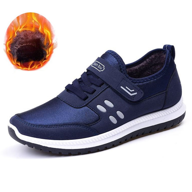 Winter Women Sneakers Platform Sneakers Winter Shoes Women Plush Casual Shoes Vulcanized For Women Female Hook&Loop Ladies Shoes