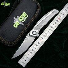 Green Thorn quantum Flipper folding knife S110V blade titanium handle outdoor camping hunting pocket kitchen knives EDC tools